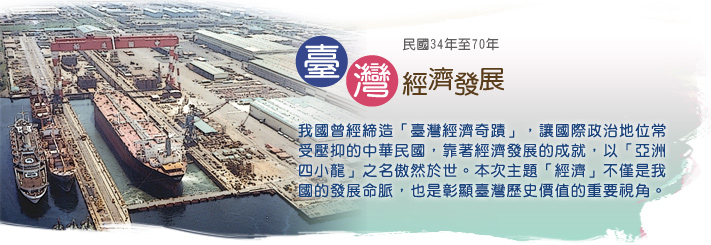 民國34年至70年臺灣經濟發展